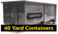 40 yard roll off containers for rent
